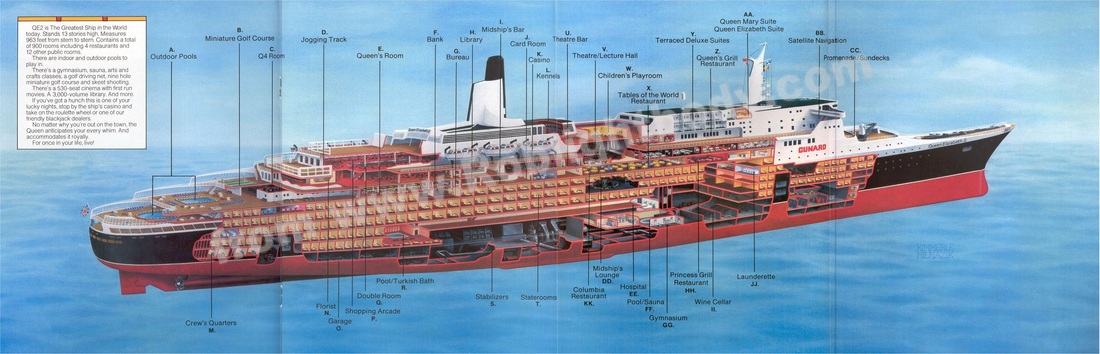QE2 Cutaway drawing from the 1982 Brochure