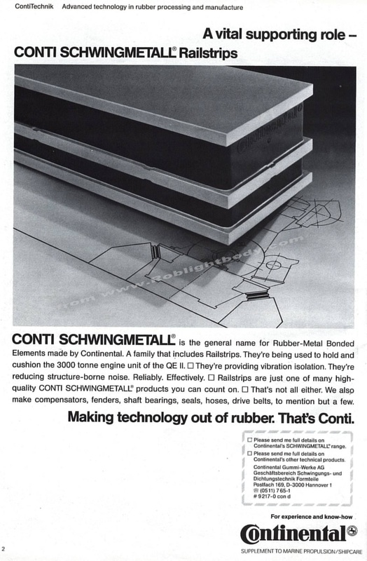 Conti Schwingmetall -Stopping the vibrations from 130,000 shp!