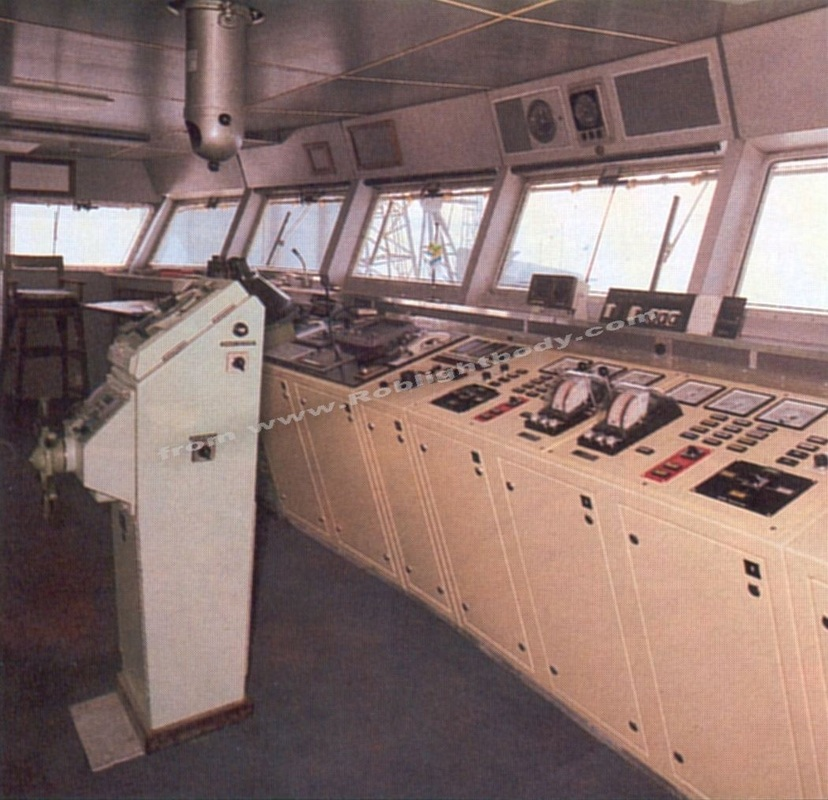 Manoeuvring panel in the wheelhouse