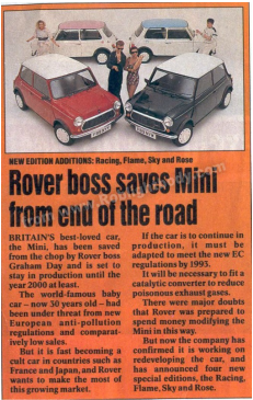 Rover Boss saves Mini from end of the road - article