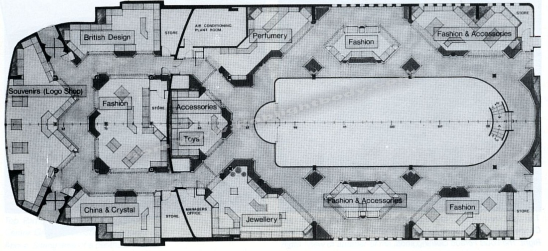 Original artists plan for the new shops.