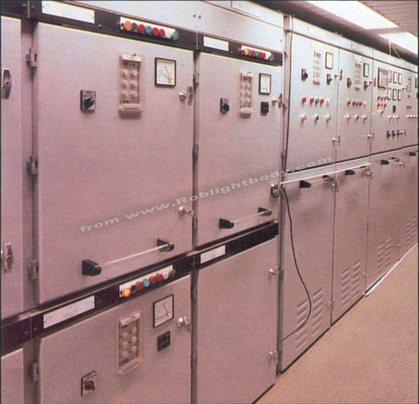 Section of the main switchboard