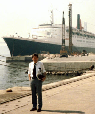 My Dad with his ship in Lisbon in the early to mid 80s.